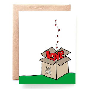 Box of Love Valentine's Day Card