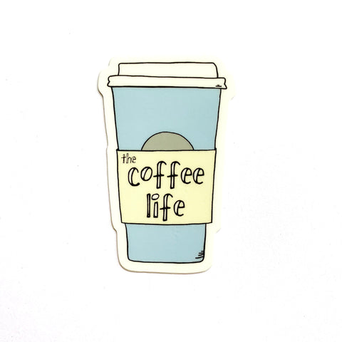 Coffee Life Sticker, Vinyl Coffee Sticker