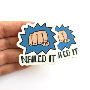 Nailed It Sticker Set of 2 Vinyl Stickers