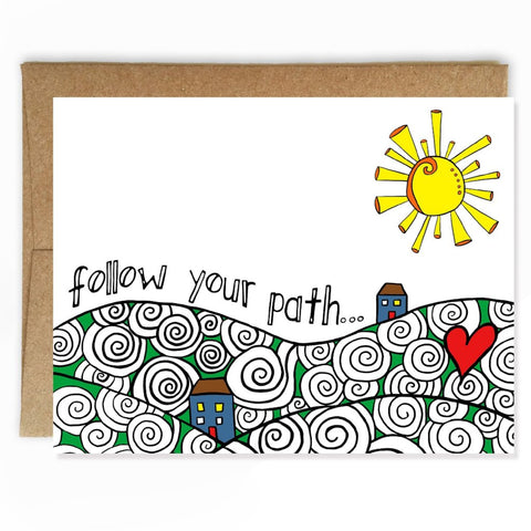 Follow Your Path Graduation Card
