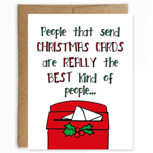 People That Send Christmas Cards - Single Card or Set of 8