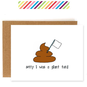 Giant Turd Apology Card