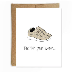 Laceless Shoes Birthday Card