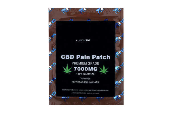 CBD Pain Patch - 40mg CBD - 100% Natural - Pack of 4 Patches