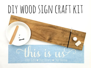 Wood Sign Kit | Plank Stained Board | US OCP Event