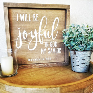 Joyful in God