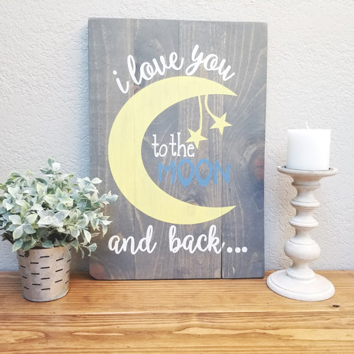 Love you to the moon | Nursery Decor
