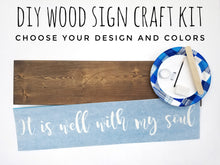 Load image into Gallery viewer, Wood Sign Kit | Plank Stained Board | US OCP Event