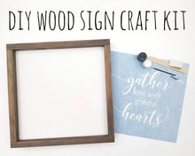 Load image into Gallery viewer, DIY Wood Sign Kit | Various Designs | Framed Board