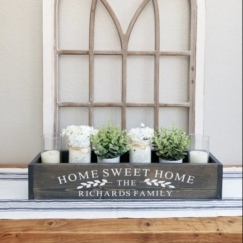 Table Centerpiece Box | Home Sweet Home