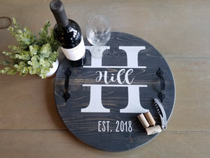 Monogram Name Tray