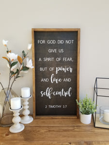 Power Love and Self-Control | 2 Timothy 1:7