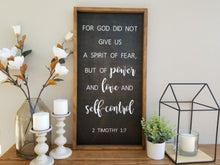 Load image into Gallery viewer, Power Love and Self-Control | 2 Timothy 1:7