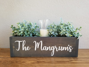 Table Centerpiece Box | Custom Quote or Saying