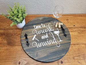 Uncork and Unwind Tray