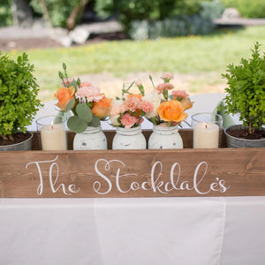 Wedding Centerpiece Box | Custom Name