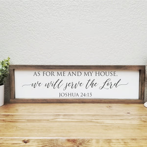 As for me and my house | Joshua 24:15