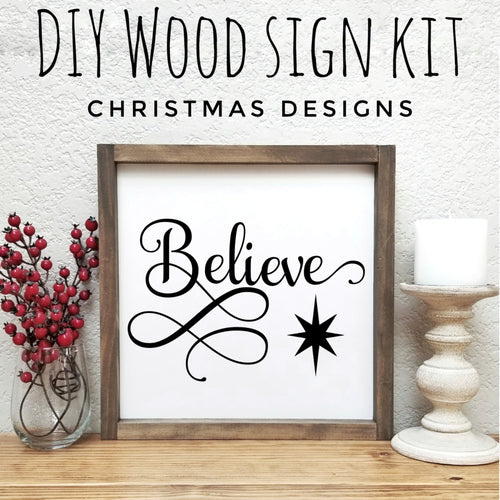 Christmas DIY Wood Sign Kit | Various Designs