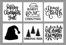 Load image into Gallery viewer, Christmas DIY Wood Sign Kit | Various Designs | Set of 3 Mini Signs