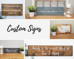 Custom Stained Sign Long
