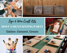 Load image into Gallery viewer, DIY Wood Sign Kit | Various Designs | Square Stained Board