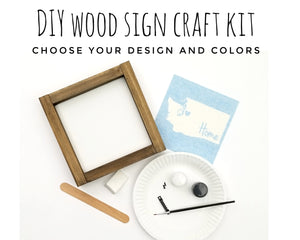 DIY Wood Sign Kit | Various Designs | Mini Framed Board