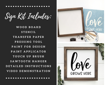 Load image into Gallery viewer, Wood Sign Kit | Framed Board