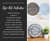 Load image into Gallery viewer, DIY Wood Sign Kit | Various Designs | Round Board