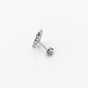 The ¥€$ Logo 925 Silver Longevity Stud Earring [¥€$ BY Tosh Yagishita]