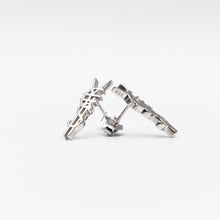 Load image into Gallery viewer, The ¥€$ Logo 925 Silver Longevity Stud Earring [¥€$ BY Tosh Yagishita]
