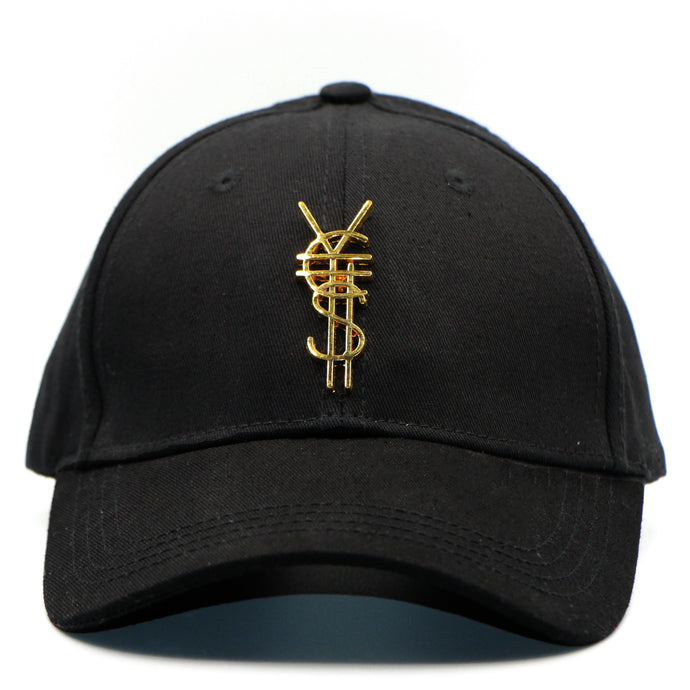 Gold Medal Emblem Black Dad Cap [¥€$ BY End Of Currency]
