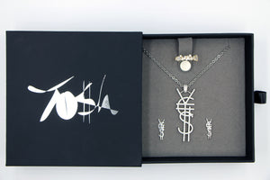 SAVE $34 NOW! ¥€$ Logo Necklace, Freeform Gold Ring, ¥€$ Earring. 3 For 1 Deal