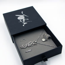 Load image into Gallery viewer, SAVE $34 NOW! ¥€$ Logo Necklace, Freeform Silver Ring, ¥€$ Earring. 3 For 1 Deal