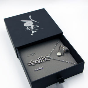 SAVE $34 NOW! ¥€$ Logo Necklace, Freeform Silver Ring, ¥€$ Earring. 3 For 1 Deal