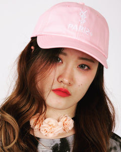 Pink Paris Logo Dad Hat [¥€$ BY Tosh Yagishita]