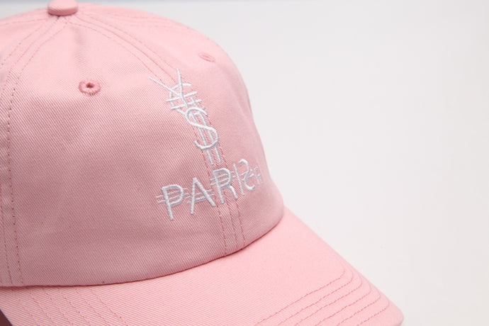 Pink Paris Logo Dad Hat [¥€$ BY End Of Currency]
