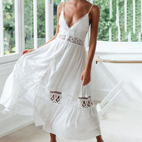 CALOFE Long Maxi Dress Beach Cover Up