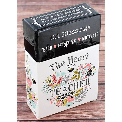 101 Blessings 'The Heart of a Teacher' Cards - Bella Faith - Christian Shirts for Women - Women's Faith Based Apparel - Christian Clothing for Women - Christian Jewelry and Gifts for Women - Trendy Christian Tees