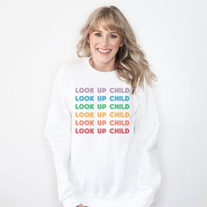 Look Up Child Sweatshirt - Bella Faith - Christian Shirts for Women - Women's Faith Based Apparel - Christian Clothing for Women - Christian Jewelry and Gifts for Women - Trendy Christian Tees