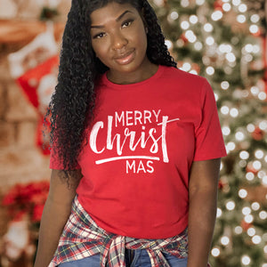 Merry CHRISTmas Shirt - Christian Christmas Shirts for Women - Christian Christmas Gifts for Women - Keep Christ in Christmas