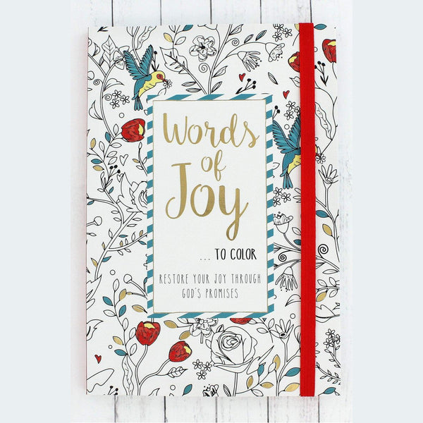 Words of Joy Adult Coloring Book - Bella Faith - Christian Shirts for Women - Women's Faith Based Apparel - Christian Clothing for Women - Christian Jewelry and Gifts for Women - Trendy Christian Tees
