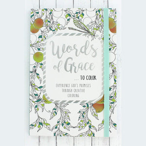 Words of Grace Adult Coloring Book - Bella Faith - Christian Shirts for Women - Women's Faith Based Apparel - Christian Clothing for Women - Christian Jewelry and Gifts for Women - Trendy Christian Tees