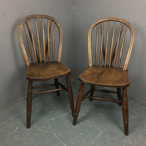 Pair of High Wycombe Windsor chairs