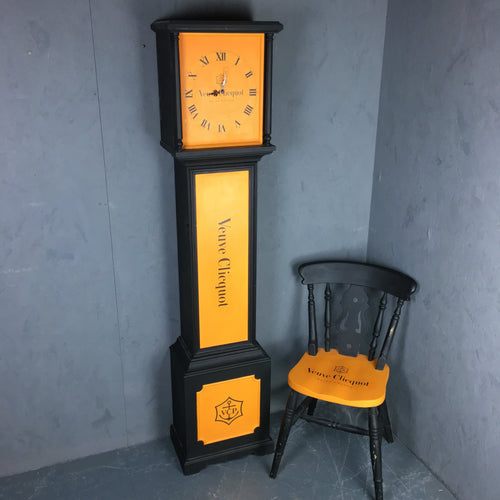 Veuve Cliquot Tall clock and matching chair