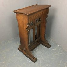 Load image into Gallery viewer, Oak Lectern, Beautiful detail, a plethora of uses