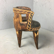 Load image into Gallery viewer, Hand Carved Tiny Wooden Chair