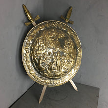 Load image into Gallery viewer, Decorative Repouso brass sheild with crosses swords