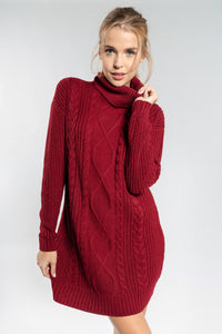 Wine Sweater Dress