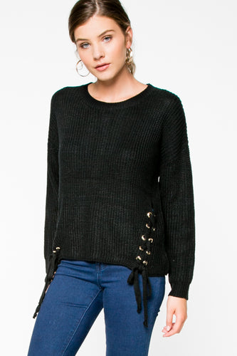 Black Sweater Side Detail