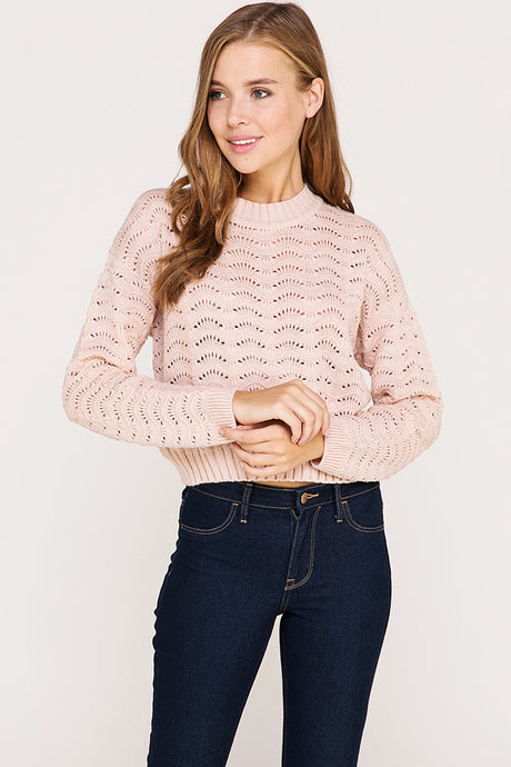 Pink Cutout Sweater
